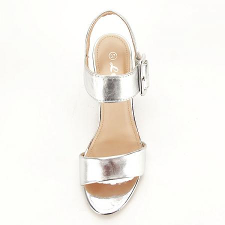 Sandale argintii office/casual Berna [2]