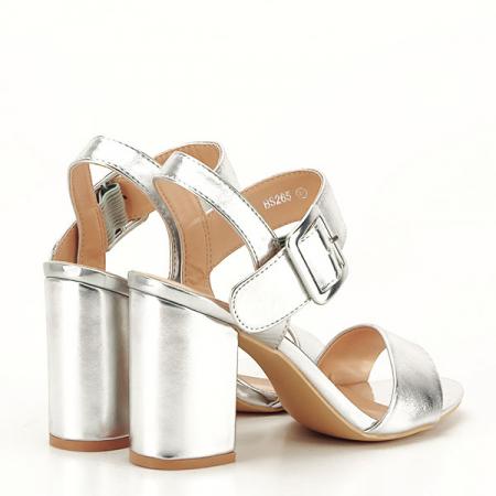 Sandale argintii office/casual Berna [5]