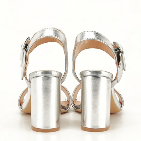 Sandale argintii office/casual Berna [6]