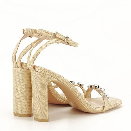 Sandale bej cu imprimeu Lola [7]