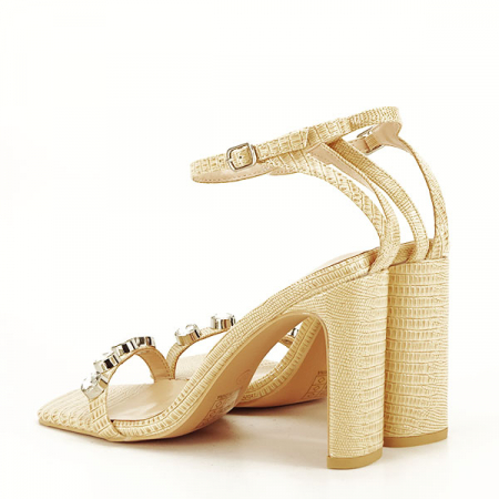 Sandale bej cu imprimeu Lola [5]