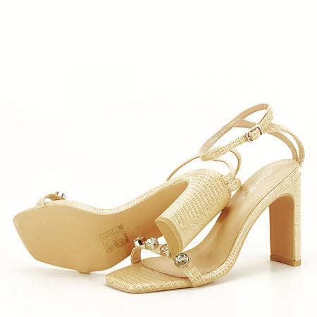 Sandale bej cu imprimeu Lola [4]