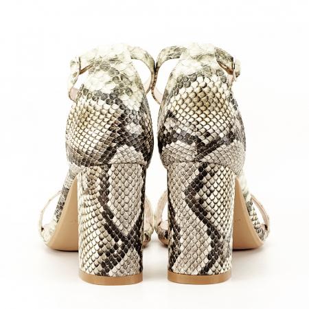 Sandale bej cu imprimeu reptila Leila [5]