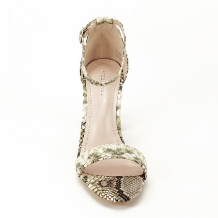 Sandale bej cu imprimeu reptila Leila [3]