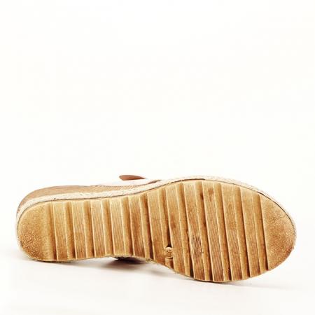 Sandale bej cu platforma Florida [7]