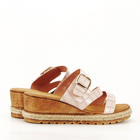 Sandale bej cu platforma Florida [5]