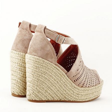 Sandale bej cu platfoma Jasmine [6]