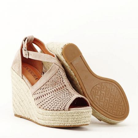 Sandale bej cu platfoma Jasmine [4]
