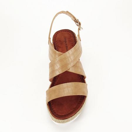 Sandale bej cu platforma Odessa2