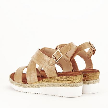 Sandale bej cu platforma Odessa7
