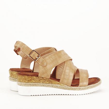 Sandale bej cu platforma Odessa4
