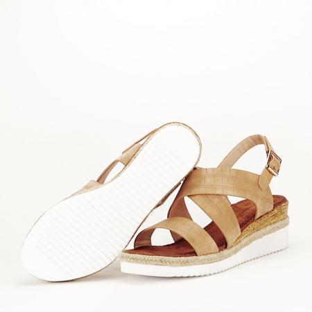 Sandale bej cu platforma Odessa5