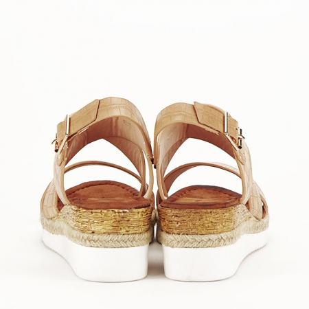 Sandale bej cu platforma Odessa3