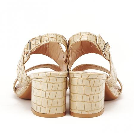 Sandale bej cu toc mic Edith [6]