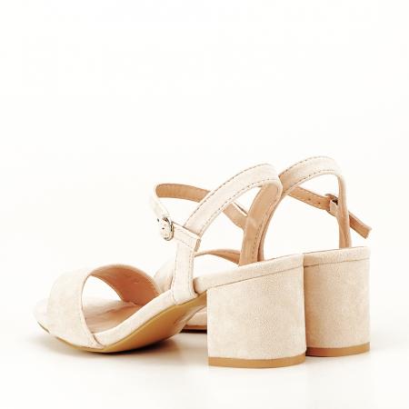 Sandale bej cu toc mic Vanesa6