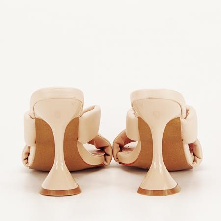 Sandale bej cu toc Sonia [5]