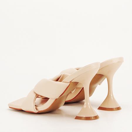 Sandale bej cu toc Sonia [3]