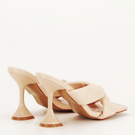 Sandale bej cu toc Sonia [4]