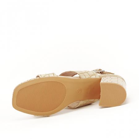 Sandale bej cu toc mic Edith [7]