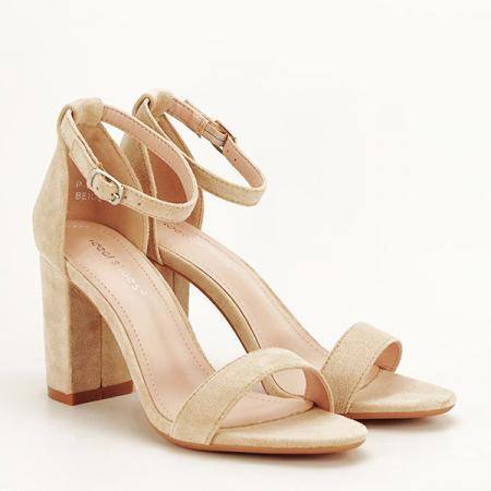 Sandale bej elegante Sabina [2]
