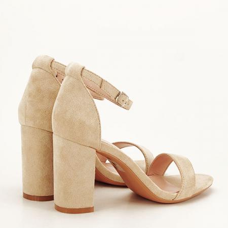 Sandale bej elegante Sabina [4]