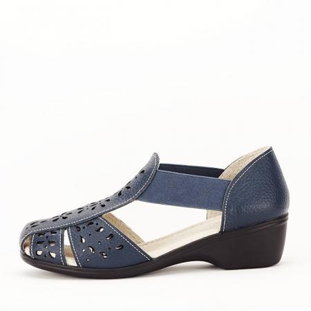 Sandale bleumarin din piele naturala Ozana1