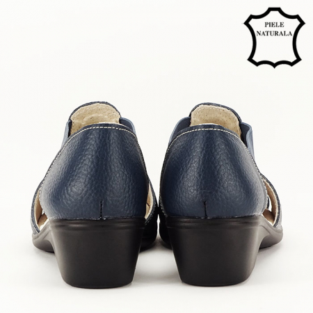 Sandale bleumarin din piele naturala Ozana6