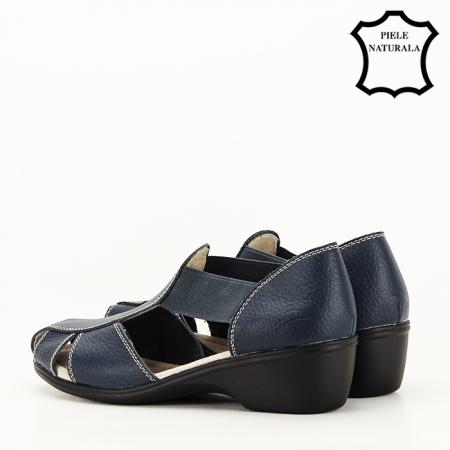 Sandale bleumarin din piele naturala Calypso [7]