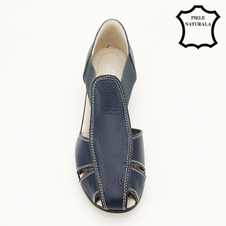 Sandale bleumarin din piele naturala Calypso [2]