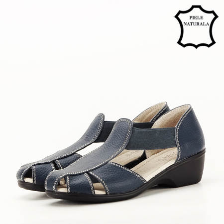 Sandale bleumarin din piele naturala Calypso [1]