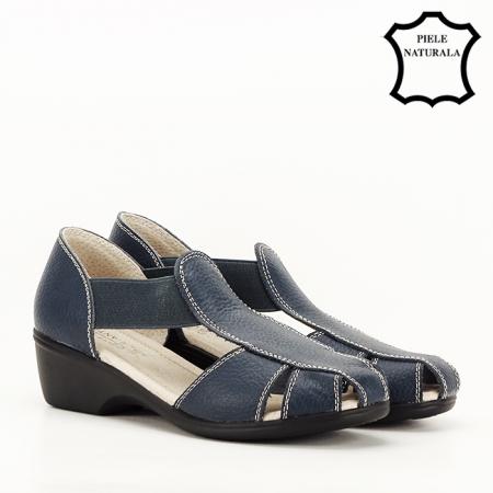 Sandale bleumarin din piele naturala Calypso [6]
