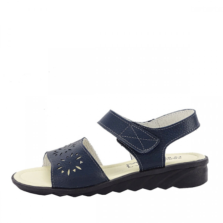 Sandale bleumarin din piele naturala Catis0
