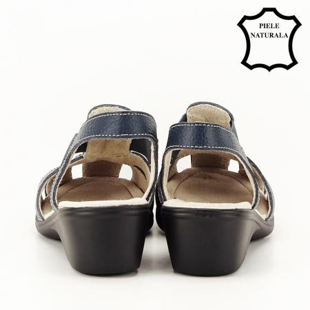 Sandale bleumarin din piele naturala Codruta4