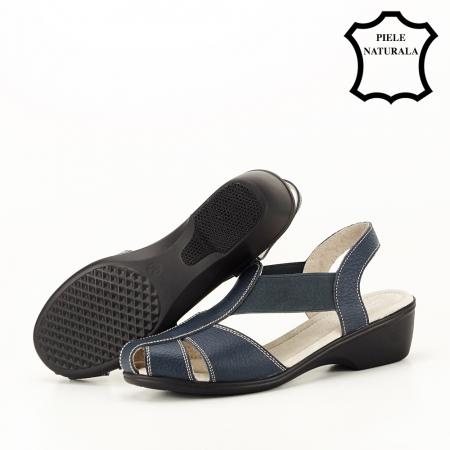 Sandale bleumarin din piele naturala Codruta5