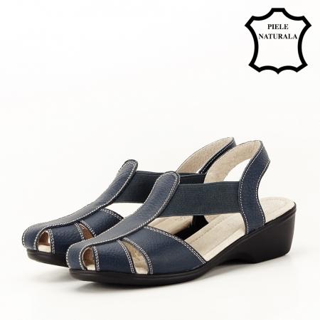 Sandale bleumarin din piele naturala Codruta1