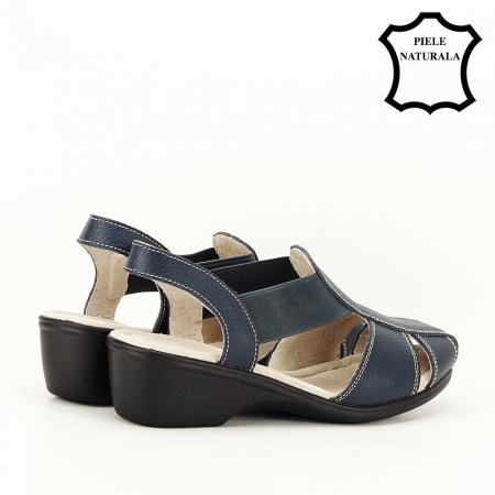 Sandale bleumarin din piele naturala Codruta3