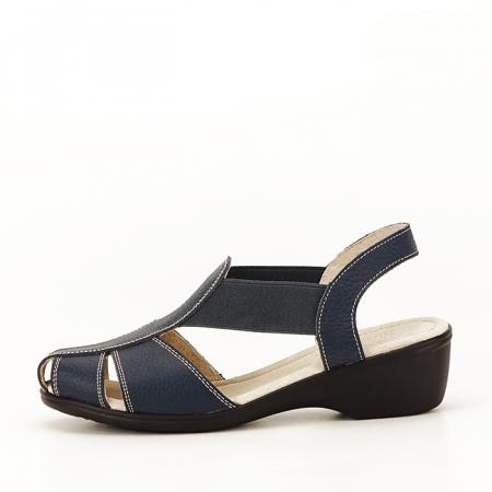 Sandale bleumarin din piele naturala Codruta0