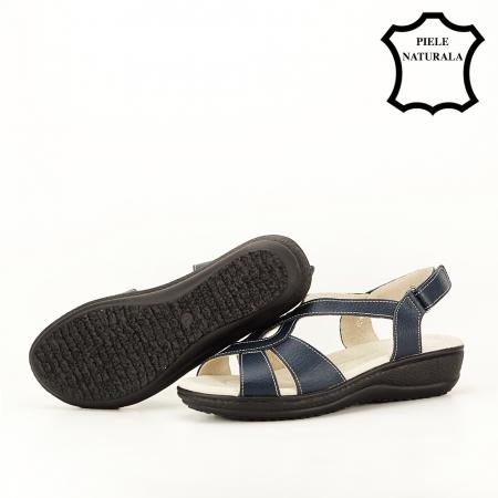 Sandale bleumarin din piele naturala Mabel [5]