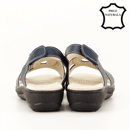 Sandale bleumarin din piele naturala Mabel [6]