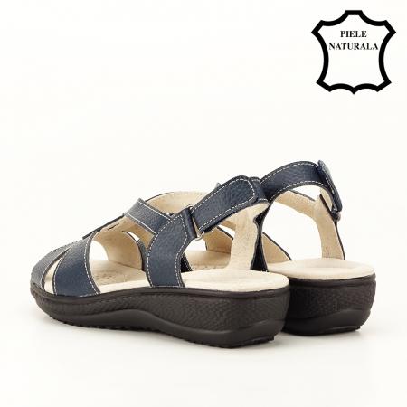 Sandale bleumarin din piele naturala Mabel [7]