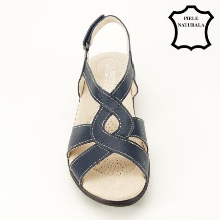 Sandale bleumarin din piele naturala Mabel [1]
