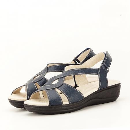 Sandale bleumarin din piele naturala Mabel [0]