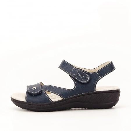 Sandale bleumarin din piele naturala Sara [0]