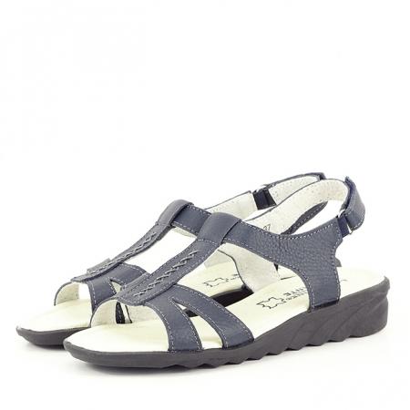 Sandale bleumarin din piele naturala Silvia0