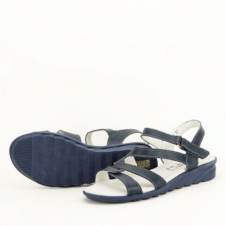 Sandale bleumarin din piele naturala Suzana [7]