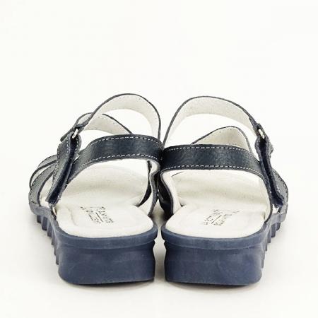 Sandale bleumarin din piele naturala Suzana [5]