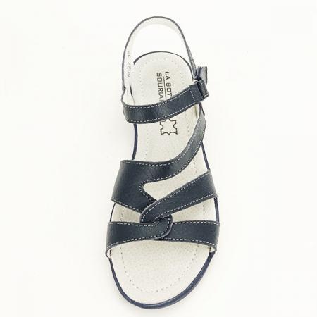 Sandale bleumarin din piele naturala Suzana [6]