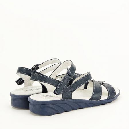 Sandale bleumarin din piele naturala Suzana [4]