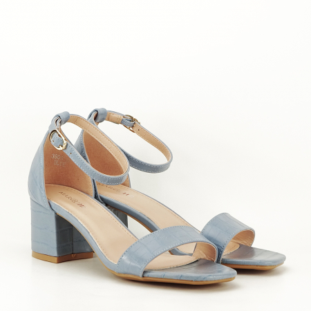 Sandale blue cu toc gros Bella6