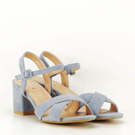 Sandale albastre cu toc mic Natalia [5]